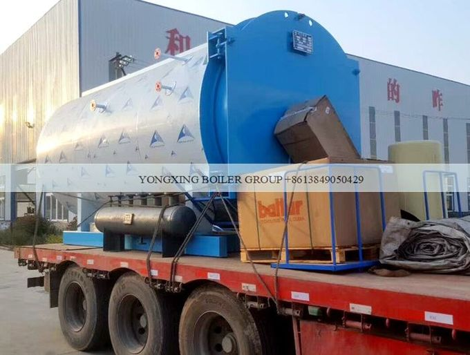 Automatic Industrial Natural Gas Steam Furnace / Three Pass Fire Tube Boiler 1 Ton
