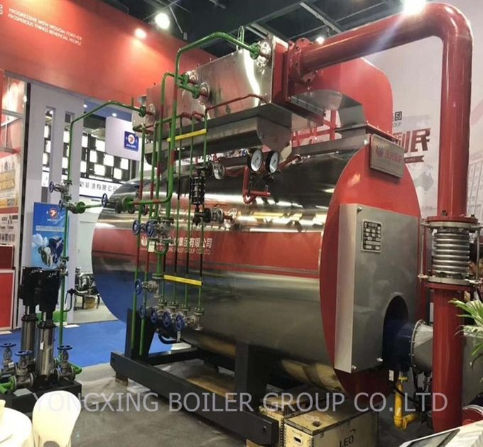 Good Steam Output Gas Fired Steam Boiler For Sugar Mill / Rice Mill