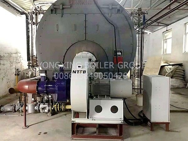 Three Return Natural Gas Fire Tube Boiler Hot Water Boiler Furnace for Hotel School