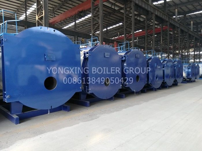 Horizontal Oil Fired Hot Water Boiler Oil Powered Boiler  5000000kal/H With Riello Burner
