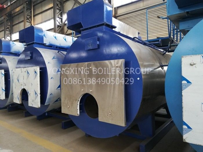 Fire Tube 3 Pass Industrial Natural Gas Steam Boiler For