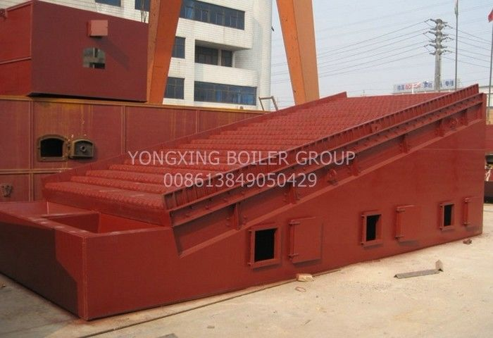 Horizontal Double Drum Reciprocating Grate Anthracite Steam Boiler 8 Ton /1.6MPa