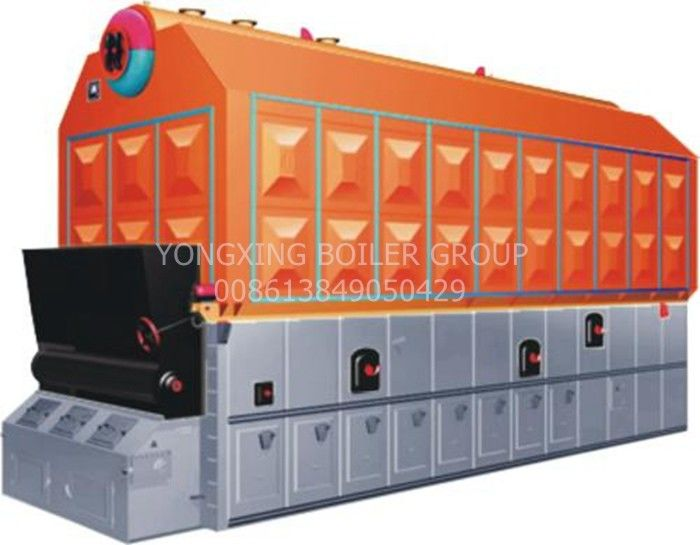 Food Factory AII Coal Fired Steam Boiler With Small Scale Chain Grate 1.25 Mpa