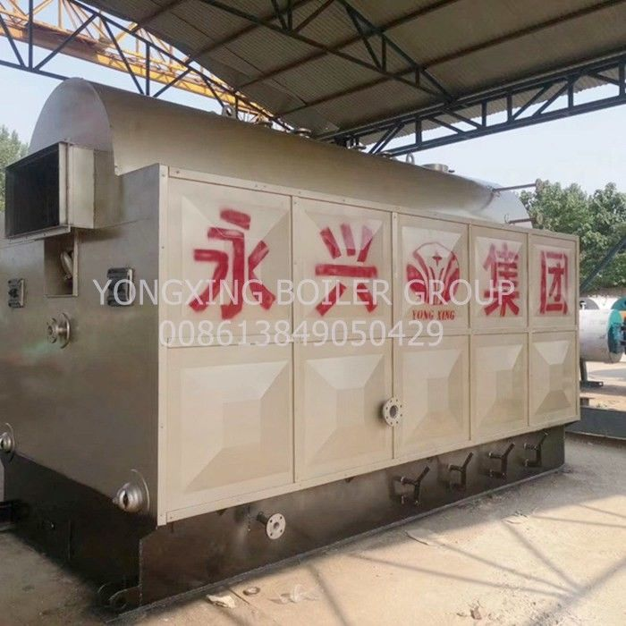 Straw Ricehusk Biomass Steam Generator 1600 Kg H In Alcohol Factory
