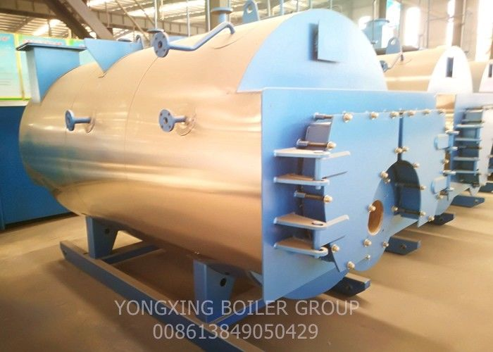 Duel Fuel Diesel Steam Boiler / Carton Cardboard Factory Horizontal Steam Boiler