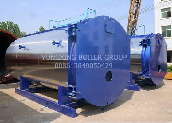 LDO 1500kgs/Hr Oil Fired Steam Boiler Efficiency 1.25kg/Cm2g Horizontal Natural Gas Boiler