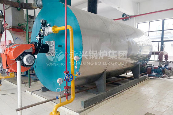 China 2800Kw Natural Gas Hot Water Furnace Industrial Water Tube Boiler Energy Saving factory