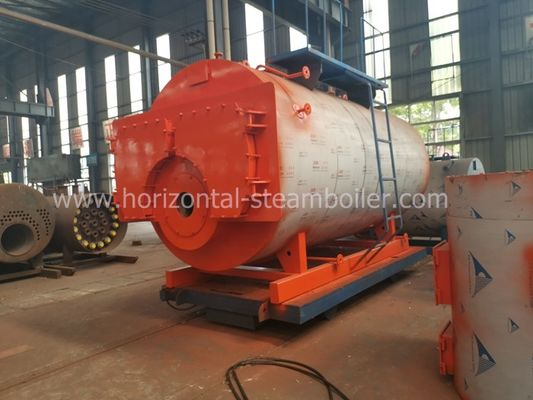 China 1.4 MW Oil Fired Hot Water Boiler Heating System Horizontal Type Corrugated Furnace factory
