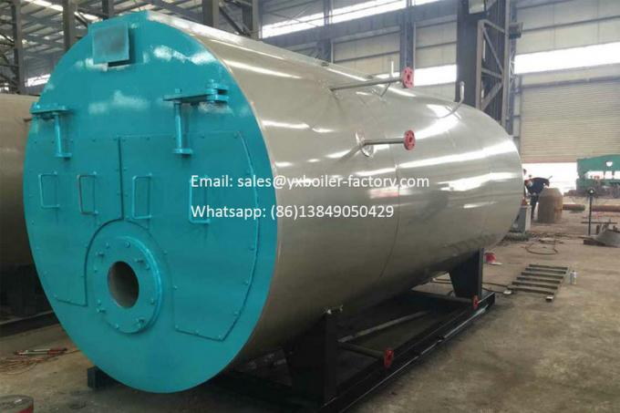 3 Pass Fire Tube Boiler Gas Fired Water Steam Boiler For Office Building